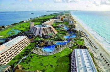 Grand Oasis Cancun Luftaufnahme der Anlage