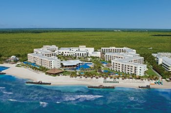 Secrets Silversands Riviera Cancun Luftaufnahme